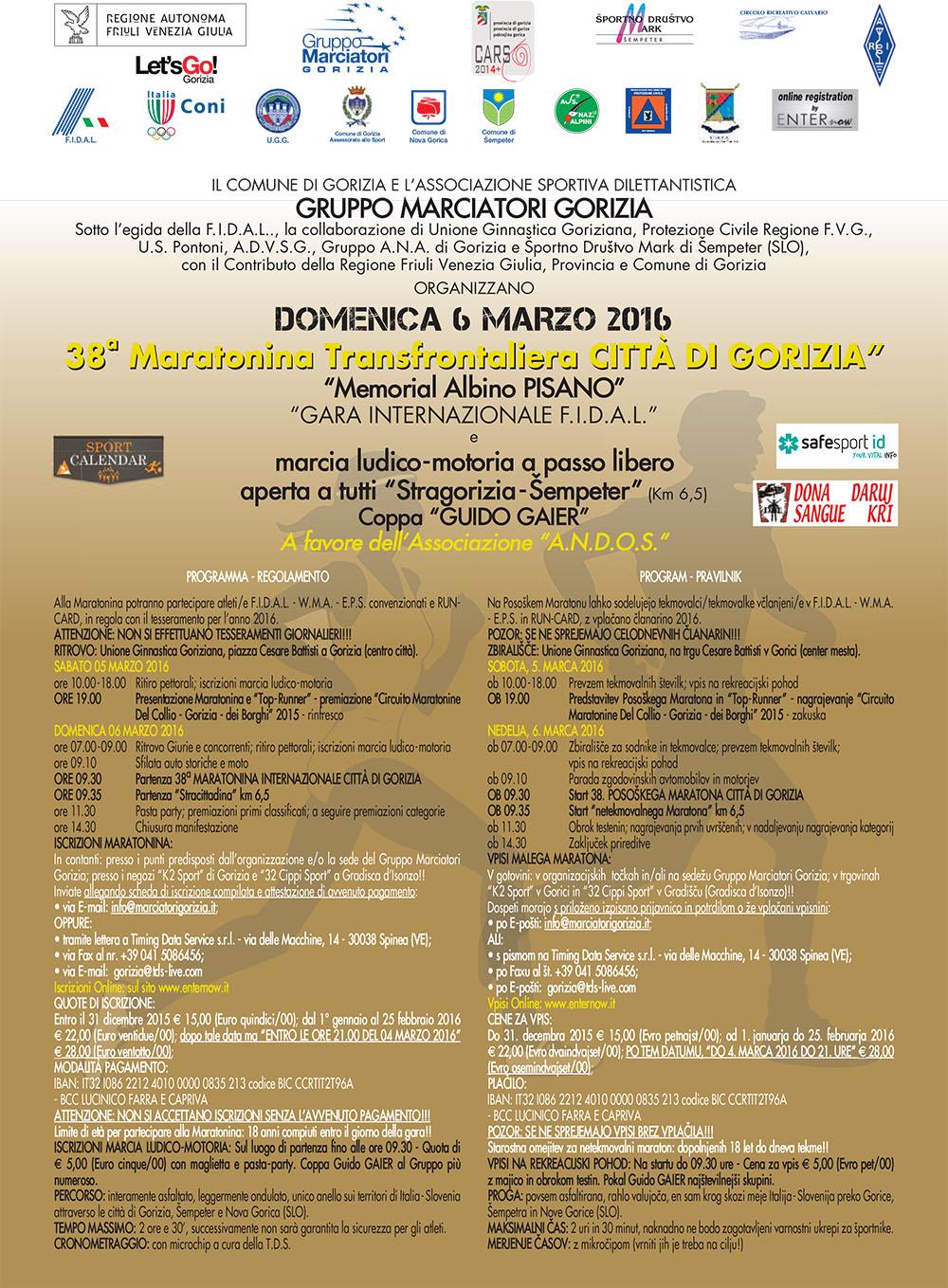 Maratonina transfrontaliera Citta' di Gorizia